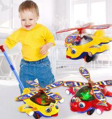 Xe đẩy đồ chơi máy bay trực thăng Cho Bé Tập Đi