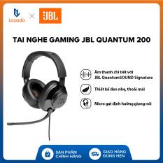 [VOUCHER 10% – HÀNG CHÍNH HÃNG] Tai nghe Gaming JBL Quantum 200 l Công nghệ JBL QuantumSOUND Signature l Driver 50mm l Đệm tai xốp thoải mái l Tương thích đa nền tảng