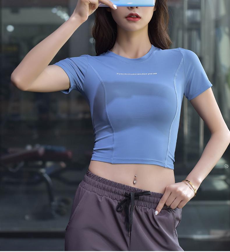 Áo Croptop Nữ Tập Gym Yoga Zumba Cá Tính, Phong Cách Thể Thao Chất Thun Co Giãn 4 Chiều Tay Ngắn | Hi Sport
