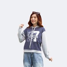Áo Thu Đông NỮ❤️Sweater Hoodie In Số Thể Thao❤️Áo Hoodie Nữ Phối Tay 42-55 kg❤️Áo Sweater Nữ In Sọc Ngang – 2639