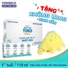 Thùng 48 Hộp Sữa bột Pha Sẵn Vinamilk Yoko – 48 Hộp x 110ml + Tặng Khủng long bông trị giá 100k