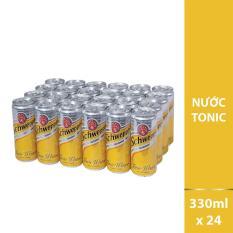 Nước giải khát có ga Schweppes Tonic thùng 24 lon 330ml