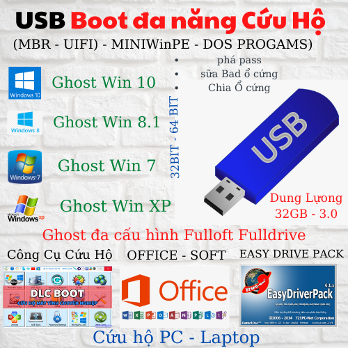 USB Boot cứu hộ máy tính laptop