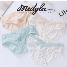 Set 4 Quần Lót Bầu Cotton mềm mịn giá rẻ Kèm túi zip sang trọng Medyla