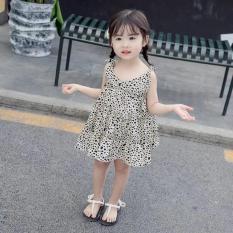 Váy da báo hai dây bé gái_ 2 mầu