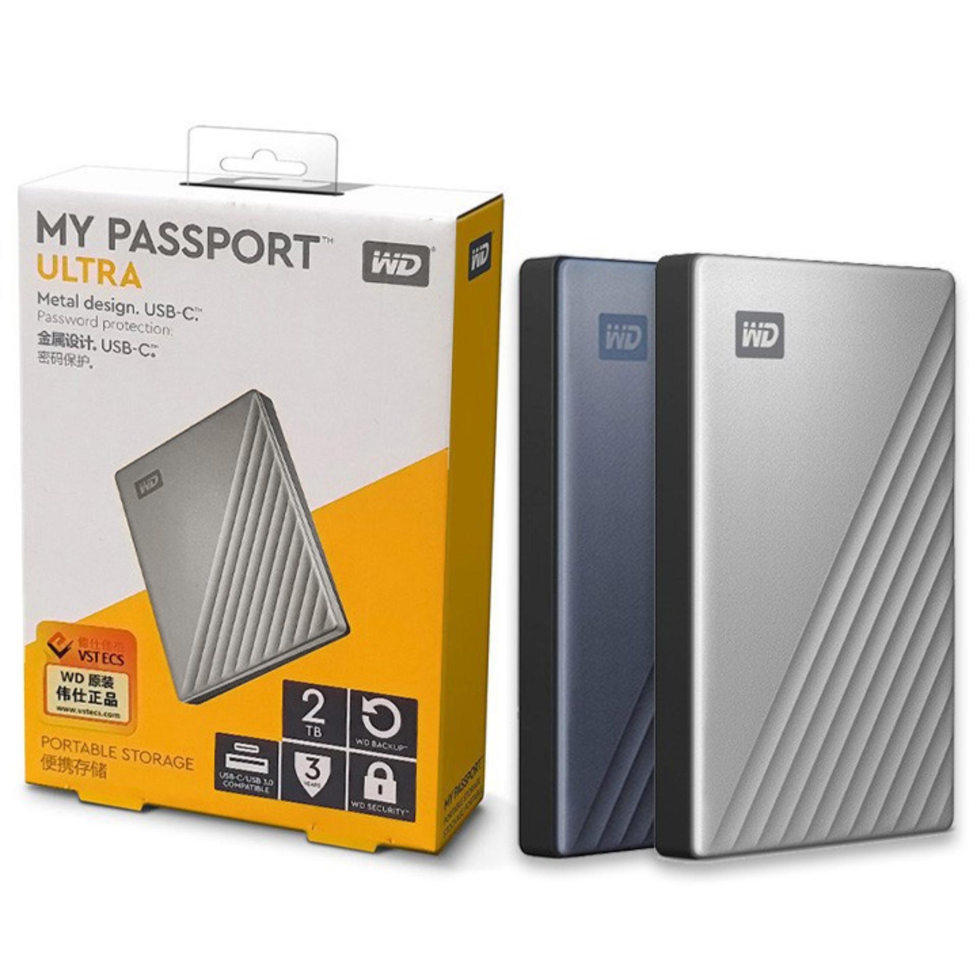 Ổ cứng di động WD My Passport Ultra 4TB 2TB 1TB USB3.0 type-C - bảo hành 3 năm SD44 SD45...
