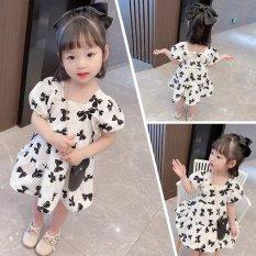 Váy Babydoll Hình Nơ cho bé gái 8-22kg QATE671