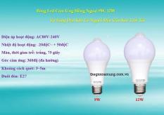 Bóng đèn led cảm ứng hồng ngoại tự bật đèn khi có người đến gần lúc tối PSP12W