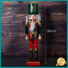 Tượng gỗ trang trí nhà cửa decor làm quà tặng Chú Lính Gác Phong cách cổ điển châu âu Kích thước lớn size 38cm