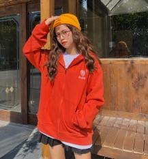 [FREESHIP TOÀN QUỐC] Áo khoác nỉ nữ thêu tim form rộng phối màu phong cách Hàn Quốc đi học đi chơi