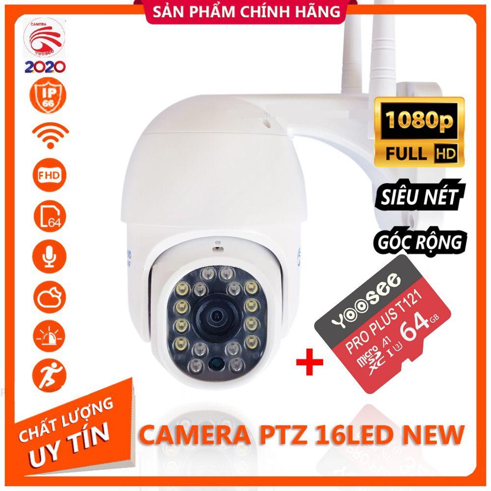 [TẶNG KÈM THẺ 32GB CHÍNH HÃNG] Camera IP Yoosee Ngoài Trời PTZ 16LED 2.0Mpx 1080P Tiếng Việt