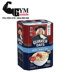 Yến Mạch Quaker Oats Mỹ Cán Dẹt Quick 1-Minute Oats 4.53kg