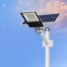 Đèn đường năng lượng mặt trời tấm pin rời 200W, Có remote, Có giá đỡ gắn đèn, BH 12 tháng, IP65 255 led siêu sáng