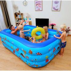 Bể bơi cho bé trong nhà 3 tầng 2m1 hình chữ nhật