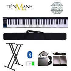 Đàn Piano Điện Konix PH88 – Đàn, Chân, Bao, Nguồn 88 Phím nặng Cảm ứng lực PH-88 – Midi Keyboard Controllers – (Tăng giảm tone Transpose, Kết nối Bluetooth, Pin sạc 1100mAh – Phần mềm và Hướng dẫn Tiếng Việt)
