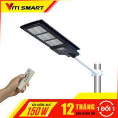 Đèn năng lượng mặt trời liền thể công suất 150W, Den nang luong mat troi lien the cong suat 150 w, có điều khiển và chân đèn