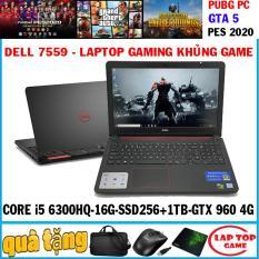 laptop gaming Dell 7559 – khủng game Core i5 6300HQ,ram 16g, ssd 256+ hdd 1tb, VGA GTX 960 4GB, 15.6 inch FHD 1920*1080