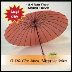Dù Đi Mưa Cỡ Lớn 24 Nan, ô dù cán dài, ô dù che mưa, Phong Cách Nhật Bản, Thiết Kế 24 Khung Nan Thép Chắc Chắn Chống Lật, Vải Dù Chống Nước Chống Tia UV – Sản Xuất Việt Nam Xuất Khẩu