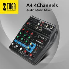 A4 4 Kênh Trộn Âm Thanh Âm Thanh Trộn Âm có Bluetooth USB Ghi 48 V Nguồn Phantom Màn Hình Con Đường Plus Hiệu Ứng sử dụng cho gia đình âm nhạc, đảng