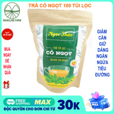 Trà Cỏ ngọt Ngọc Thảo Đà Lạt 100 túi lọc loại thượng hạng, trà giảm cân mỡ bụng Đặc sản Đà Lạt