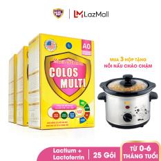 [Tặng Nồi Nấu Cháo] Combo 3 hộp Sữa bột Colosmulti