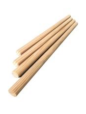 Thanh gỗ thông tròn phi 2cm – dài 1m làm hanmade, treo rèm cửa, macrame
