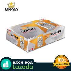 Thùng 24 Lon Bia Sapporo Premium (24 lon x 330ml)