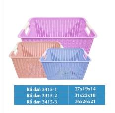 Rổ đan mây nhựa đựng đồ đa năng Việt Nhật, Giỏ đan đựng dụng cụ nhà bếp, quần áo gọn gàng, ngăn nắp – MS3415