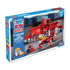 JUNO – Đồ chơi lắp ráp trạm bảo dưỡng xe đua F1 TINITOY (557 pcs)