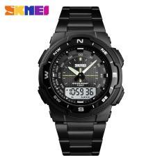Đồng hồ nam SKMEI 1370 kim điện tử dây thép không gỉ cao cấp