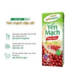 Thức uống Yến mạch đậu đỏ Việt Ngũ Cốc lốc 4 hộp 180ml