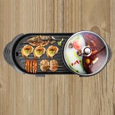 Bếp lẩu nướng 5D, bếp lẩu nướng điều khiển kép. Bếp lẩu 2 trong 1, có thể ăn lẩu và ăn nướng trên cùng 1 bếp.