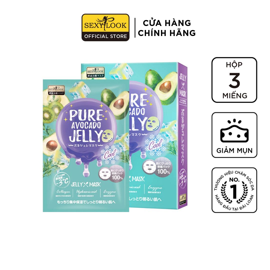 Mặt Nạ Thạch Jelly Bơ SEXYLOOK Dịu Mụn Se Khít Lỗ Chân Lông (3 miếng)