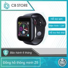 Đồng hồ điện tử thông minh Z6, kết nối các dòng điện thoại qua bluetooth (có khe gắn sim và thẻ nhớ độc lập), Dong ho dien tu thong minh ket noi cac dong dien thoai qua bluetooth (co khe gan sim va the nho doc lap)