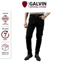 Quần jeans nam đen trơn basic co giãn form slimfit chất xuất khẩu lên dáng đẹp QJGV32 – GALVIN STORE