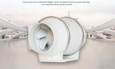 Quạt thông gió đường ống tròn áp lực xiên động lực mạnh hút mùi thông gió nhà bếp nhà vệ sinh Penck (phi 100, 150, 200, 250mm)