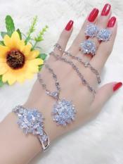 Bộ trang sức mạ Bạc, bộ trang sức nữ đính đá pha lê sáng lấp lánh không phai màu thiết kế sang trọng quý phái – KADO shop B4180684 – Đeo đi làm đi đám cưới sang trọng
