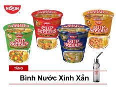 Thùng 12 Ly Mì Cup Noodles 4 Hương Vị Tặng Bình Nước Thủy Tinh Xinh Xắn