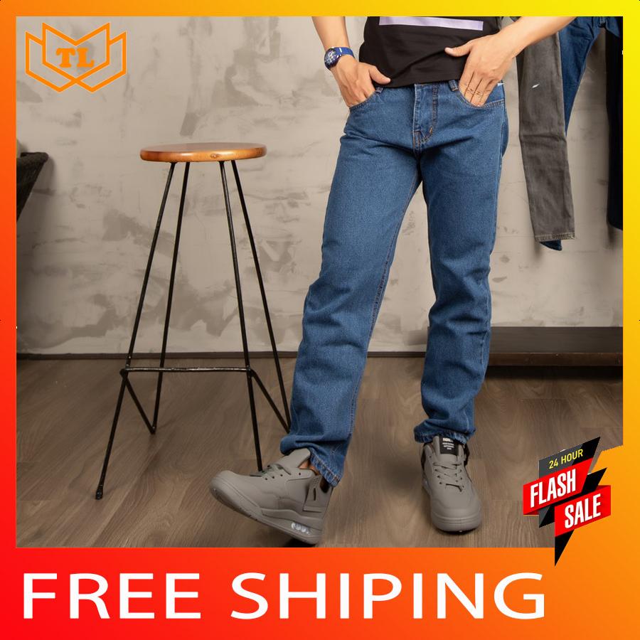 Quần ống suông vải tốt [ ẢNH THẬT 100% DO SHOP CHỤP ] TL63 shop Thành Long chuyên quần jean nam