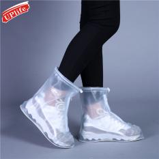 Ủng đi mưa chống trượt chất liệu PVC, thiết kế trong suốt bền bỉ tiện dụng