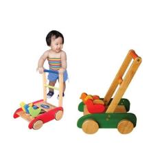 xe tập đi bằng gỗ 3 con gà, xe đẩy tập đi cho bé bằng gỗ, xe gỗ đẩy tập đi