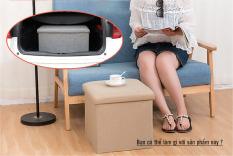 Đôn Ghế kiêm hộp đựng đồ bằng vải, có thể gấp gọn 40x25x25cm