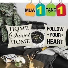 (MẪU 2) Combo 2 Vỏ Gối Tựa Lưng, Gối sofa, Gối ngủ Gia đình và Công sở (không kèm ruột gối)