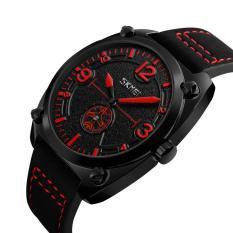 Đồng hồ nam SKMEI 9155 dây da 2 kim cao cấp