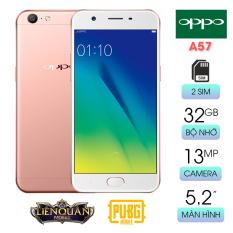 Điện thoại cảm ứng cấu hình mạnh với Ram 3GB bộ nhớ 32GB Oppo A57