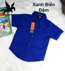 Áo Sơ Mi Cho Bé Trai Vải Nhập Khẩu Thái Lan Mềm Mịn Co Giản Cực Tốt Nhiều Màu Size Bé 5-10 tuổi Từ 20-34kg
