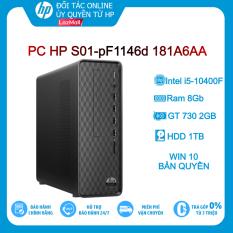 [Trả góp 0%]Máy tính để bàn PC HP S01-pF1146d 181A6AA i5-10400F 8GB 1TB VGA 2Gb Win10