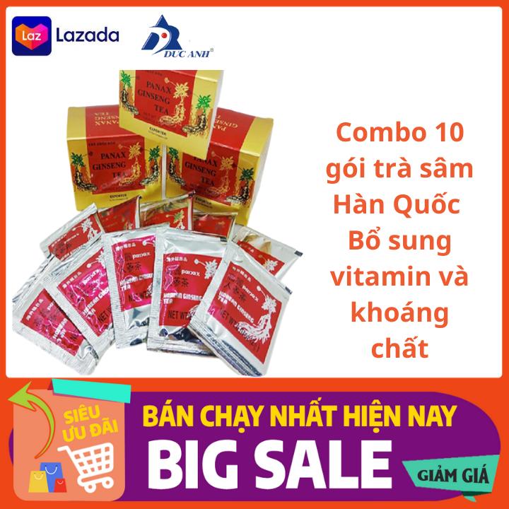 10 gói trè sâm Gingseng tea hàn Quốc mỗi gói 3 gam