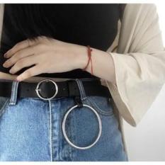 Thắt lưng nữ mặt vuông ulzzang kèm khoen tròn dành cho teen gril