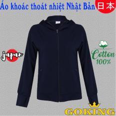 Áo khoác nữ chống nắng, chống tia UV hiệu quả, áo chống nắng vải cotton 100%, thương hiệu GOKING